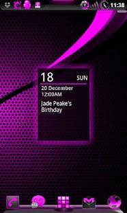 GOWidget AdeaPink ICS - Free- screenshot thumbnail