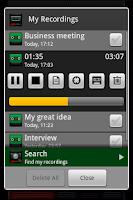 Screenshot of Recordoid Dictaphone Lite