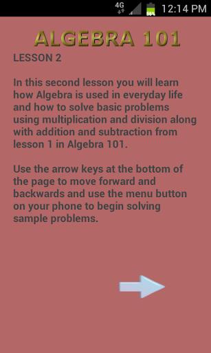 Algebra 102