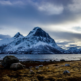 by Elisabeth Sjåvik Monsen - Landscapes Mountains & Hills ( shore, northern, winter, mountain, nature, sea, coast, norway,  )
