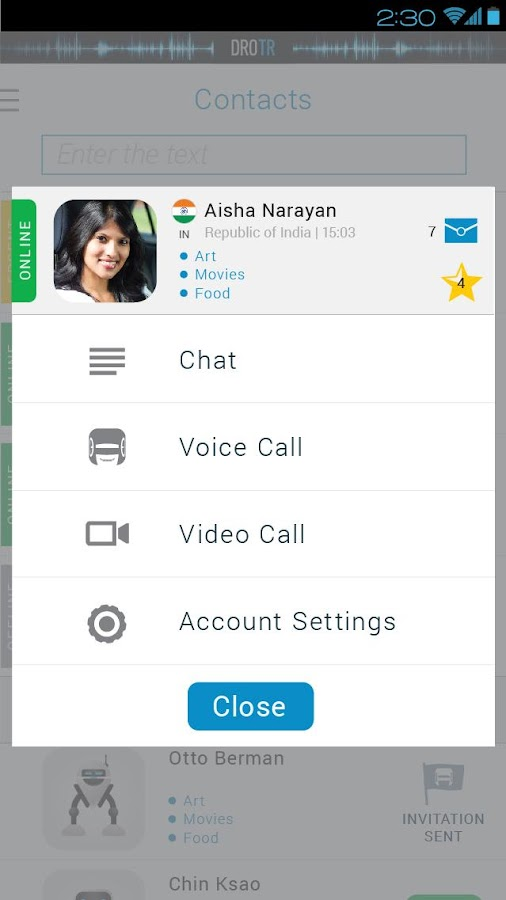 DROTR - Translator Calls&Chat - screenshot