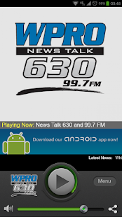 News Talk 630 WPRO & 99.7 FM - screenshot thumbnail