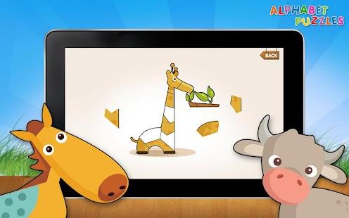 兒童 ABC的字母拼圖免費