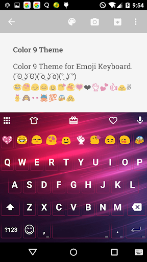 Color 9 Emoji Keyboard Theme app (apk) free download for