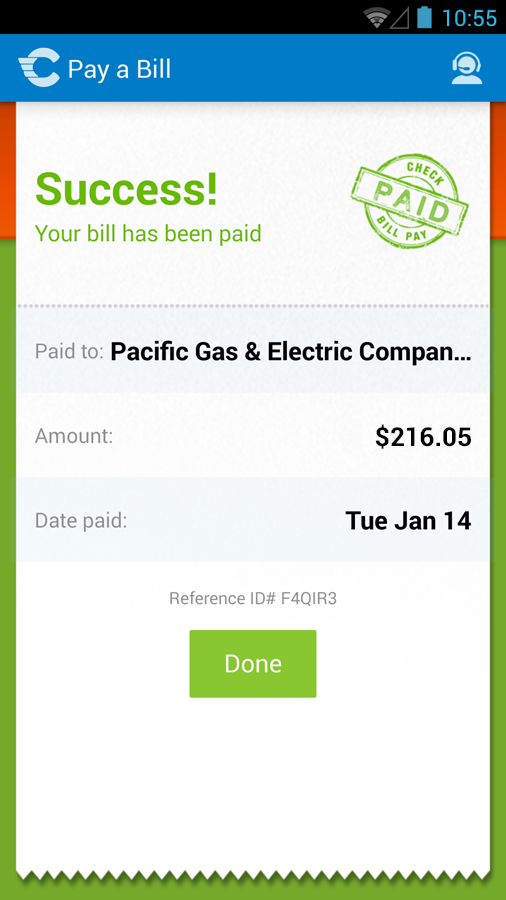 Check: Pay bills, credit cards - screenshot