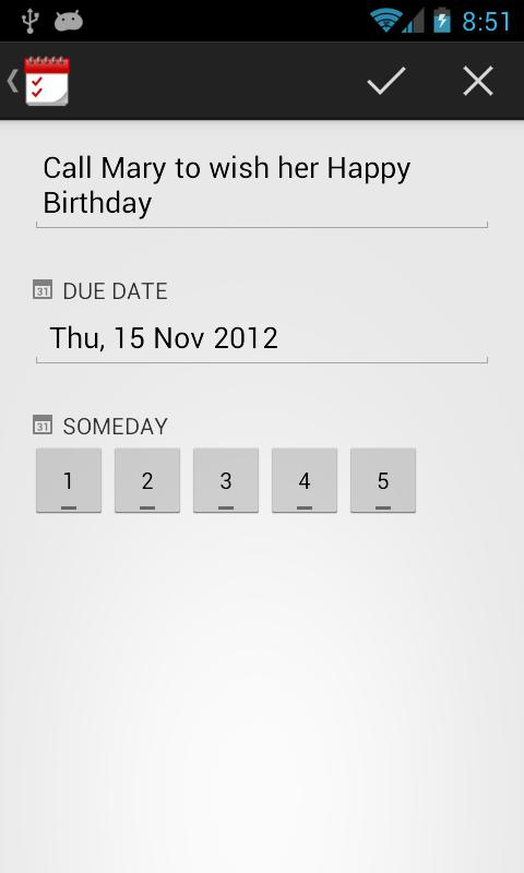 TodoToday for TeuxDeux - screenshot