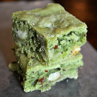 Green Tea White Chocolate Brownies Recipe