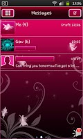 Screenshot of Fairy Pink Go Sms Theme
