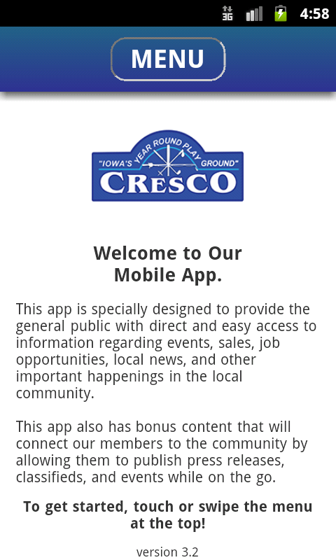 Cresco Area Chamber- screenshot