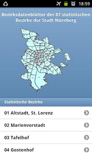 Bezirksdaten Nürnberg
