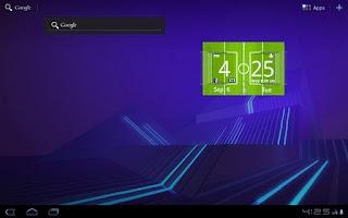 Screenshot of Football Digital Weather Clock