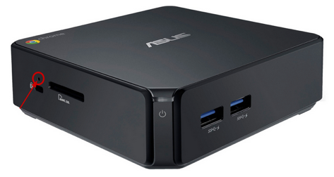 Asus Chromebox factory reset button