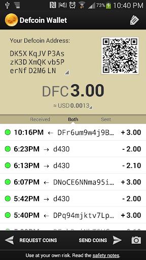 Defcoin Wallet