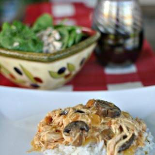 Crock pot Chicken & Mushrooms.