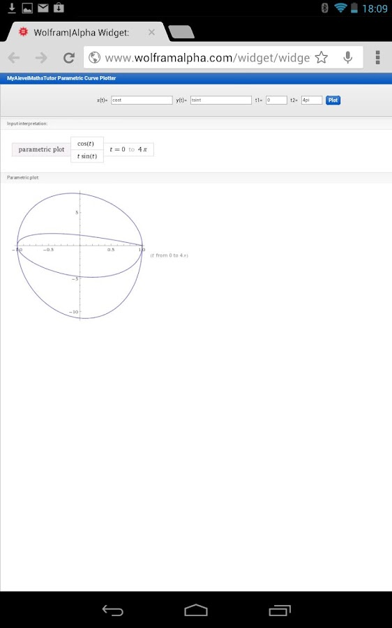 Parametric Graph Calculator- screenshot