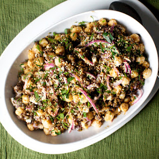 Lentil and Chickpea Salad with Feta and Tahini Recipe