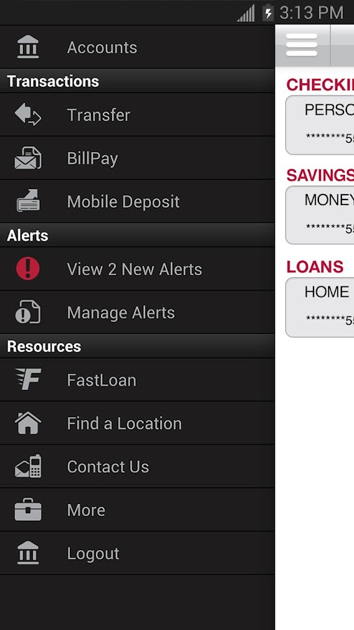 Bank of Kansas City Mobile - screenshot