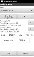Screenshot of Van Sales Invoicing/Billing