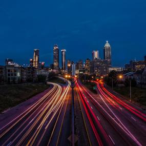 Atlanta, GA at Blue Hour by Andrew Savasuk - City,  Street & Park  Skylines