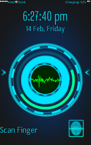 Voice Fingerprint Lock Screen