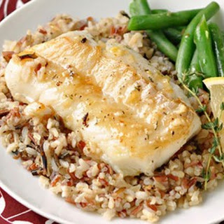 Lemon & Thyme Pan-Seared Cod.