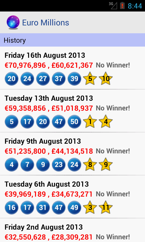Euro Millions - screenshot