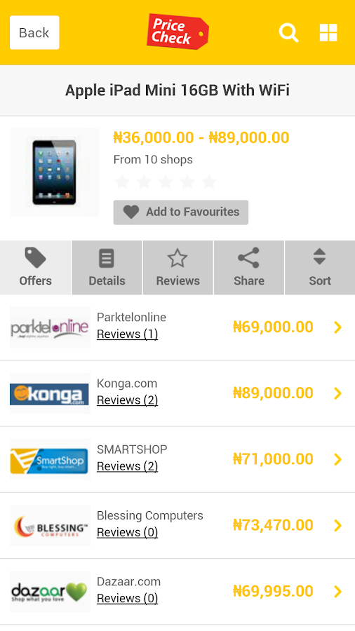 PriceCheck Nigeria- screenshot