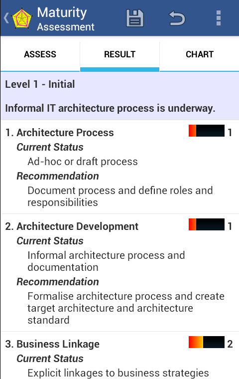Architecture Maturity - screenshot