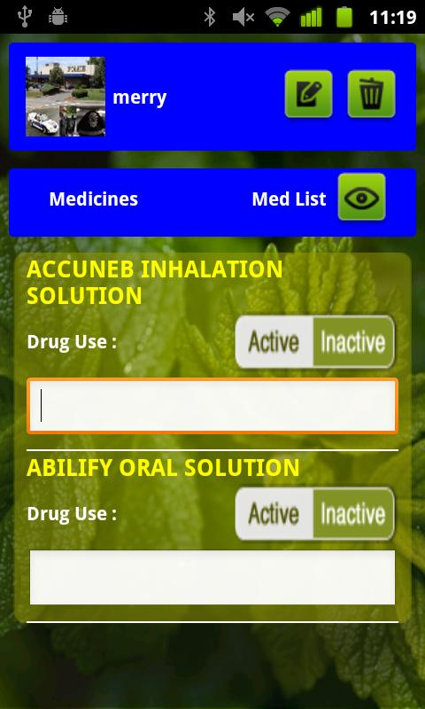 Medication, Drug, Rx QuickList- screenshot