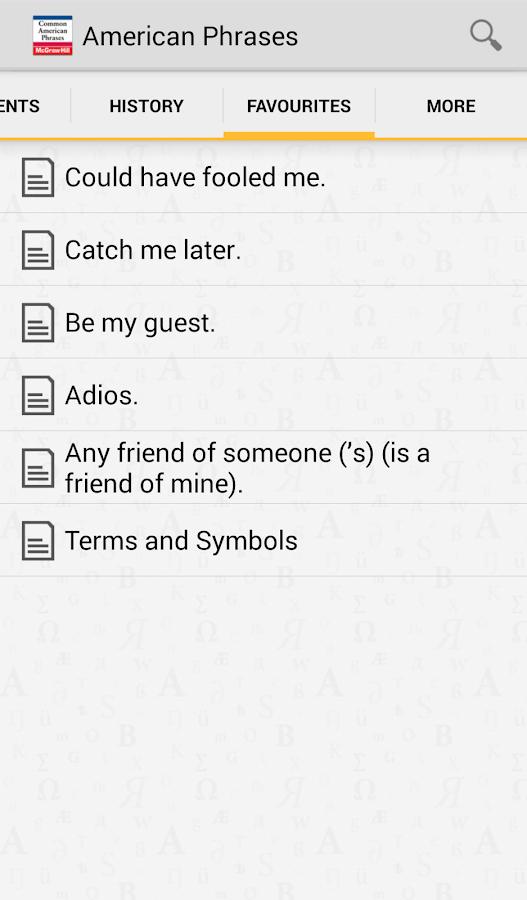 Common American Phrases - screenshot