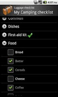 Screenshot of LuggageChecklist