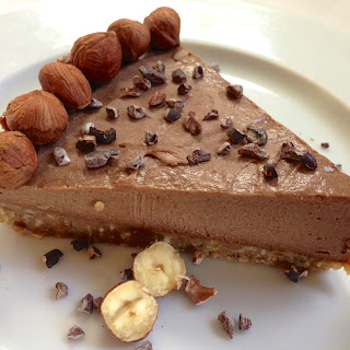 Paleo Chocolate Hazelnut Pie.