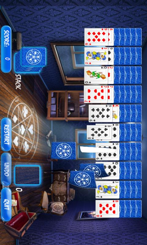 Magic Room Spider Solitaire - screenshot
