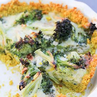 Broccoli and Cheddar Quiche with Quinoa Crust.