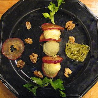 Gelati a la Waldorf- Apple, Celery and Mayo(EVOO) Gelati with Candied Walnuts