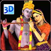 3D Radha Krishna LiveWallpaper