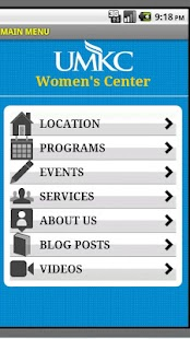 UMKC Women's Center - screenshot thumbnail