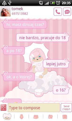 GO SMS Pro Sweet Lolita Theme