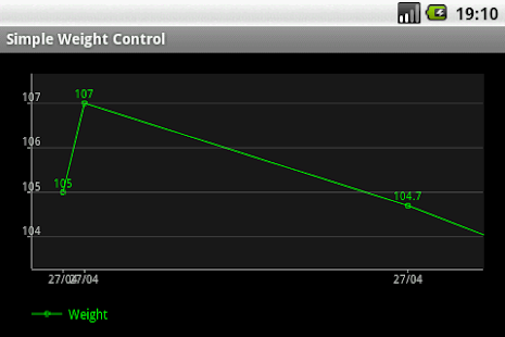 Simple Weight Control - screenshot thumbnail
