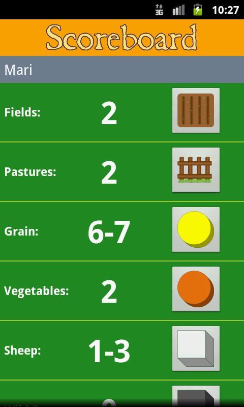 Agricola Score Calculator- screenshot