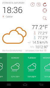 GidiWeather - Flat Weather UI screenshot 1