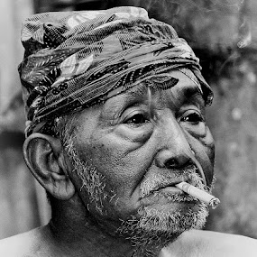 by Kuswarjono Kamal - Black & White Portraits & People