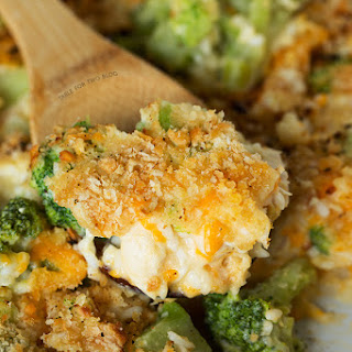 Broccoli, Rice, and Chicken Casserole.