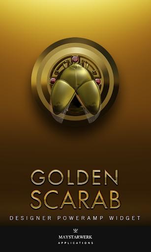 Poweramp Widget Gold Scarab