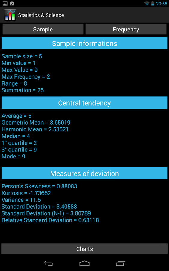 Statistics & Science - screenshot