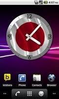 Screenshot of Japan Flag Clock