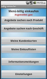 billig einkaufen shopping-list- screenshot thumbnail