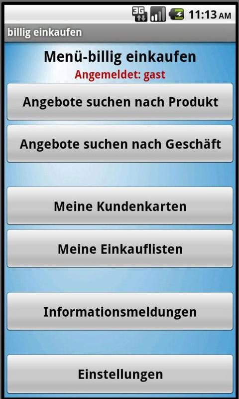 billig einkaufen shopping-list- screenshot