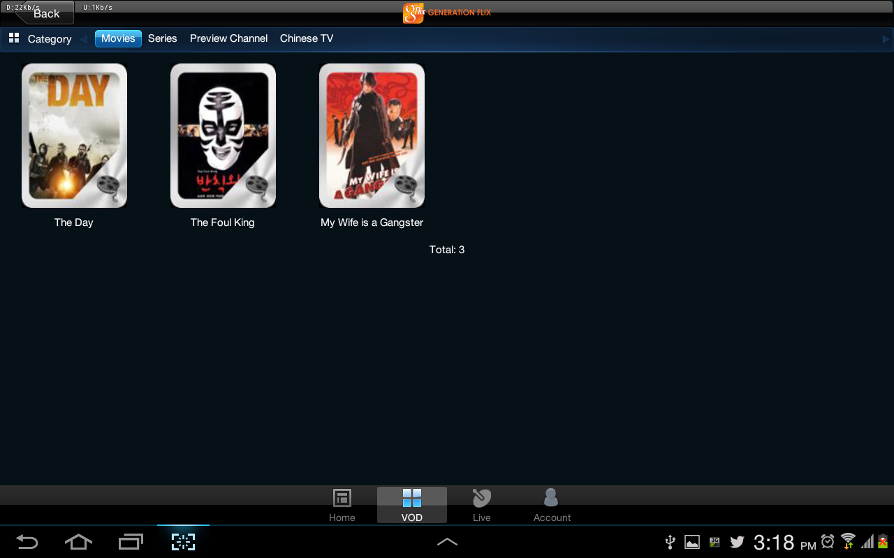 Genflix HD for Tablet - screenshot