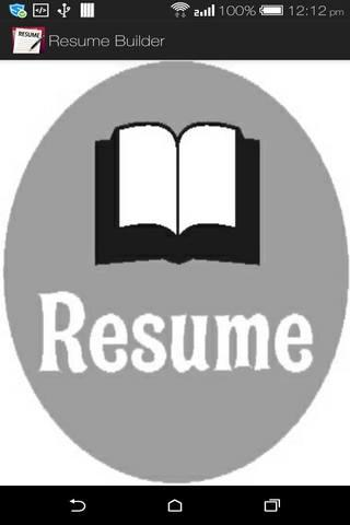 smart resume creator screenshot